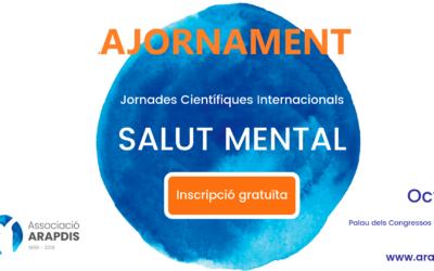 El 8 i 9 de novembre, vine a les Jornades Internacionals sobre Salut Mental!